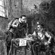 Kepler And Brahe At Work Together Art Print
