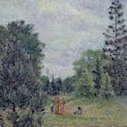 Kew Gardens, Crossroads Near The Pond, 1892 Art Print