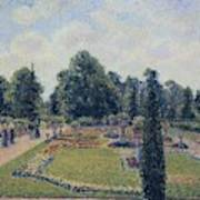 Kew Gardens - Path Between The Pond And The Palm House, 1892 Art Print