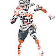 Khalil Mack Chicago Bears Pixel Art 1 Art Print