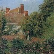 Kitchen Garden In Eragny, Afternoon, 1901 Art Print