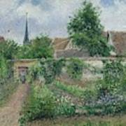 Kitchen Garden, Overcast Morning, Eragny, 1891  Art Print