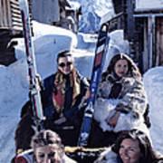 Klosters Skiing Art Print