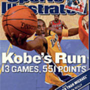 Kobes Run 13 Games, 551 Points Sports Illustrated Cover Art Print