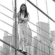 Kusama On The Brooklyn Bridge Art Print