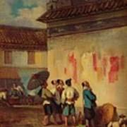 Labourer Reading A Proclamation, Macao Art Print