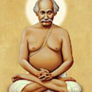 Lahiri Mahasaya On Gold Art Print