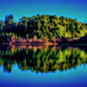 Lake Double Reflection Art Print