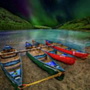 lake Geirionydd Canoes Art Print