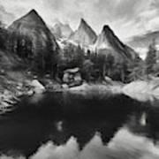 Lake Verde In The Alps IIi Art Print
