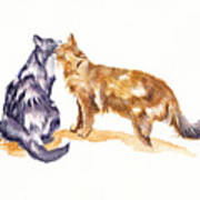 L'amour - Cats In Love Art Print