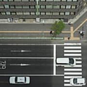 Land Vehicles Crossing Pedestrian Art Print
