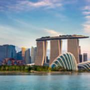 Landscape Of The Singapore Financial Art Print