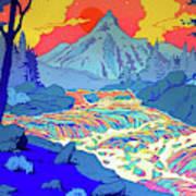 Landscape River Art Print