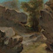 Landscape With Rocks  Augerville  Art Print