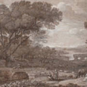 Landscape With The Rest On The F  Art Print