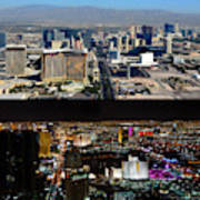 Las Vegas Night And Day Work A Art Print