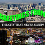 Las Vegas The City That Never Sleeps Custom Pc Art Print