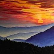 Laurens Sunset And Mountains Art Print