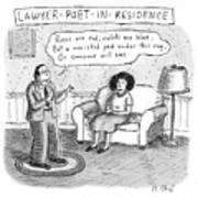 Lawyer Poet In Residence Art Print