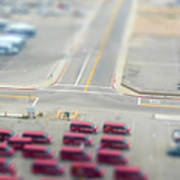 Lax Airport Parking Lot - Tilt Shift Art Print