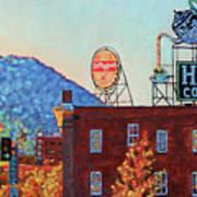 Leading Green - Antique Signs Of Roanoke Virginia Art Print