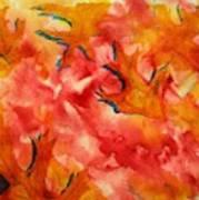 Leaf Shapes Emerging Art Print