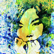 Legendary Bjork Watercolor II Art Print