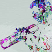 Legendary Miles Davis Watercolor Art Print