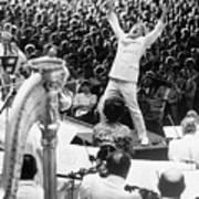 Leonard Bernstein Conducting Boston Art Print