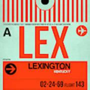Lex Lexington Luggage Tag I Art Print