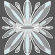 Light Blue Gray Tile Art Print