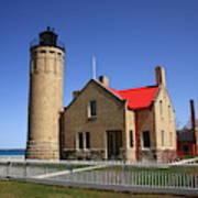 Lighthouse - Mackinac Point Michigan Art Print