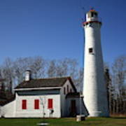 Lighthouse - Sturgeon Point Michigan Art Print