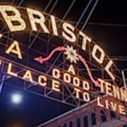 Lighting Up The Bristol Sign Art Print