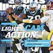 Lights, Cam Action Cam Newton Sports Illustrated Cover Art Print