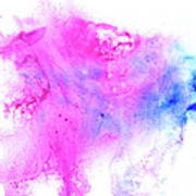 Lilac Blot Art Print