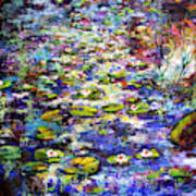 Lily  Pond Impressions Oil Painting Art Print