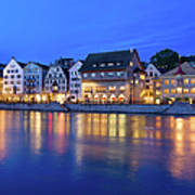 Limmat River Waterfront In Downtown Art Print