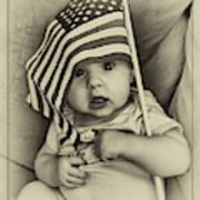 Little Patriot Art Print