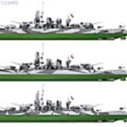Littorio Class Battleships Port Side Art Print