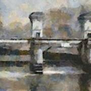 Ljubljana River Barrier  Art Print