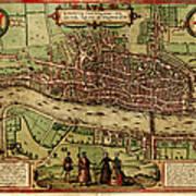 London Antique View Art Print