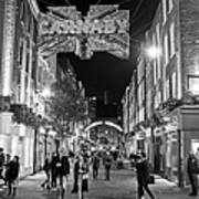 London Nightlife Carnaby Street London Uk United Kingdom Black And White Art Print