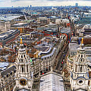 London Skyline St Pauls Cathedral Art Print