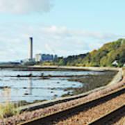 Longgannet Power Station And Railway Art Print