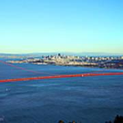 Looking Down At The San Francisco Bridge Art Print