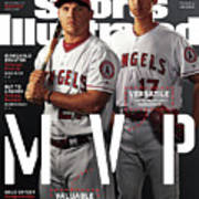 Los Angeles Angels Of Anaheim Mike Trout And Shohei Ohtani Sports Illustrated Cover Art Print