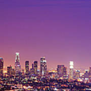Los Angeles At Dusk Art Print