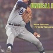 Los Angeles Dodgers Fernando Valenzuela... Sports Illustrated Cover Art Print